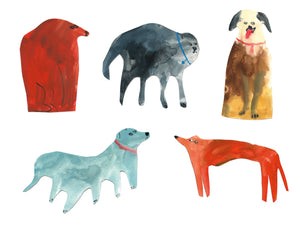 Dog Vinyl Sticker Pack | Woof Woof Sticky Doggies || Faye Moorhouse