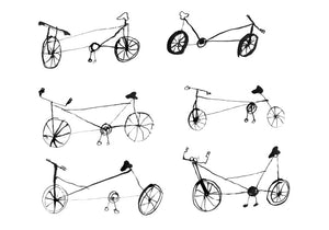 Giclee Art Print || Some Bicycles || FAYE MOORHOUSE