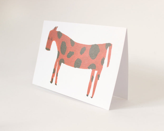 Red Horse - Quirky, funny childrens greetings card