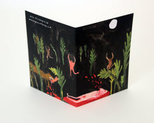 Unusual greetings card - Midnight Beast Attack
