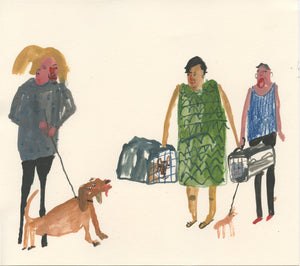 Scenes From the Vets Waiting Room | A series of four original illustrations