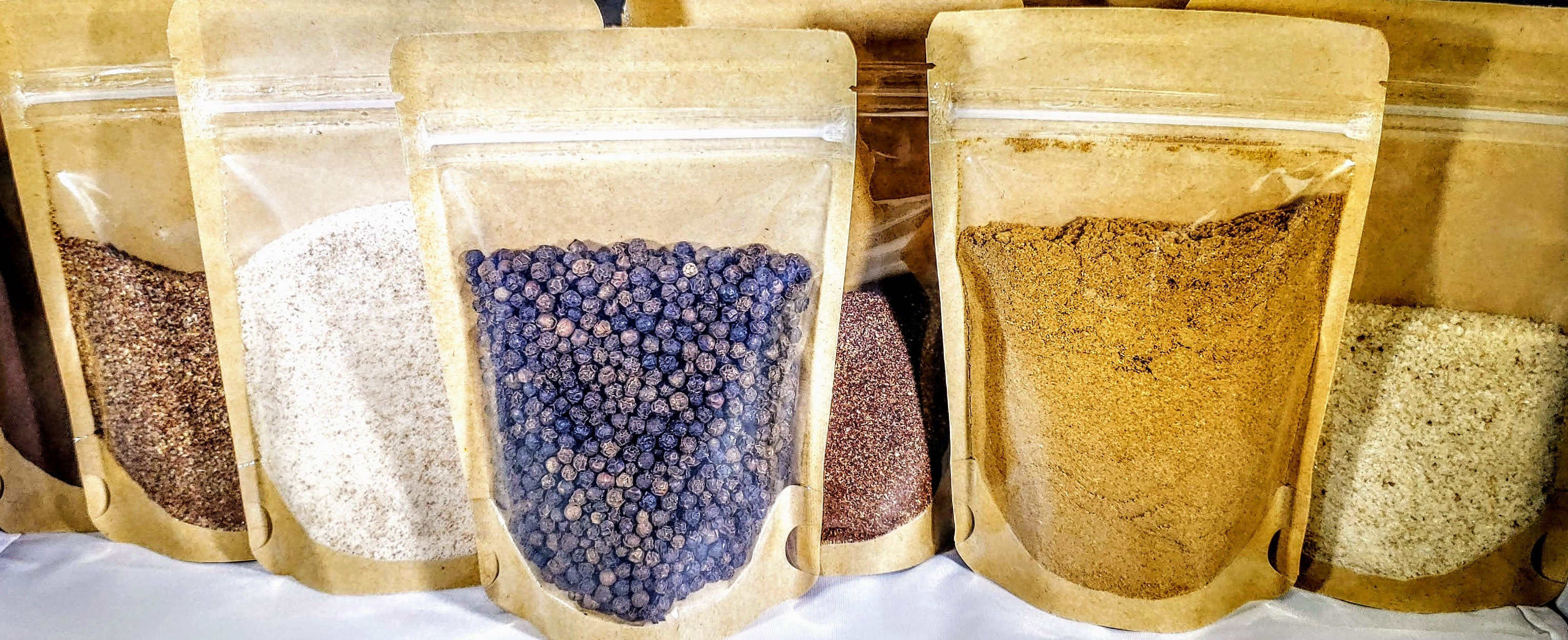 variety of spices to mix your own rub
