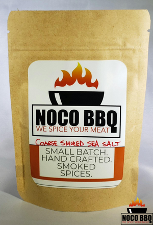 Smoked Coarse Salt label by nocobbq.com