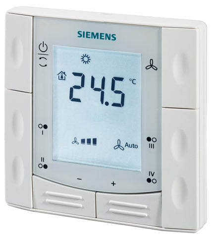 Flush-mount room thermostat, four additional buttons