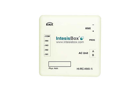 Intesis Hitachi VRF systems to KNX Gateway with Binary Inputs