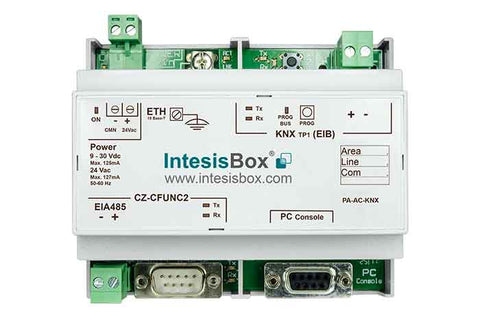 Intesis Panasonic VRF systems (CZ-CFUNC2) to KNX Gateway
