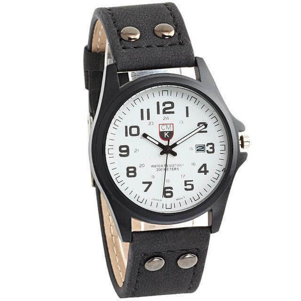 Relógio Army Force Masculino de Couro - iClock