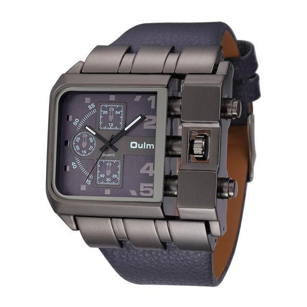 Relógio Oulm Homme Design Inovador Masculino - iClock