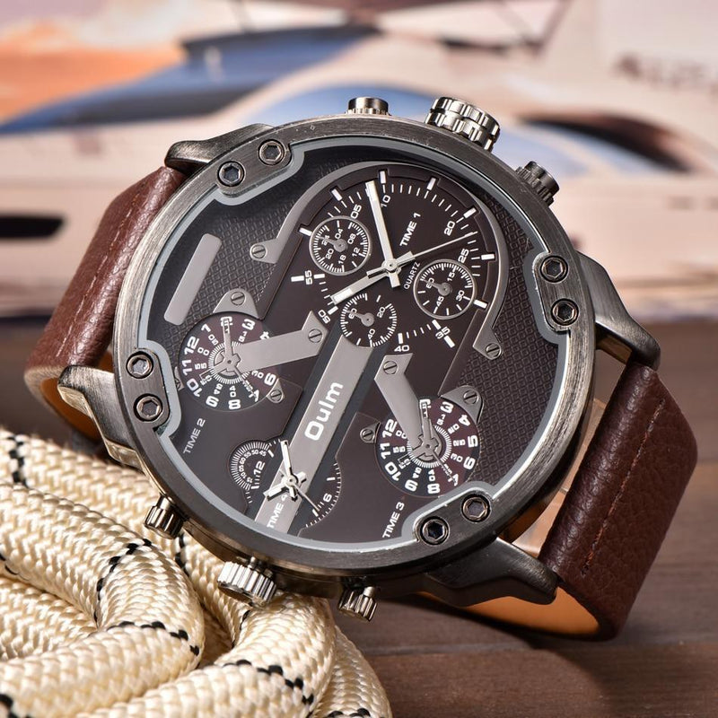 Relógio Oulm Masculino Design Casual - iClock