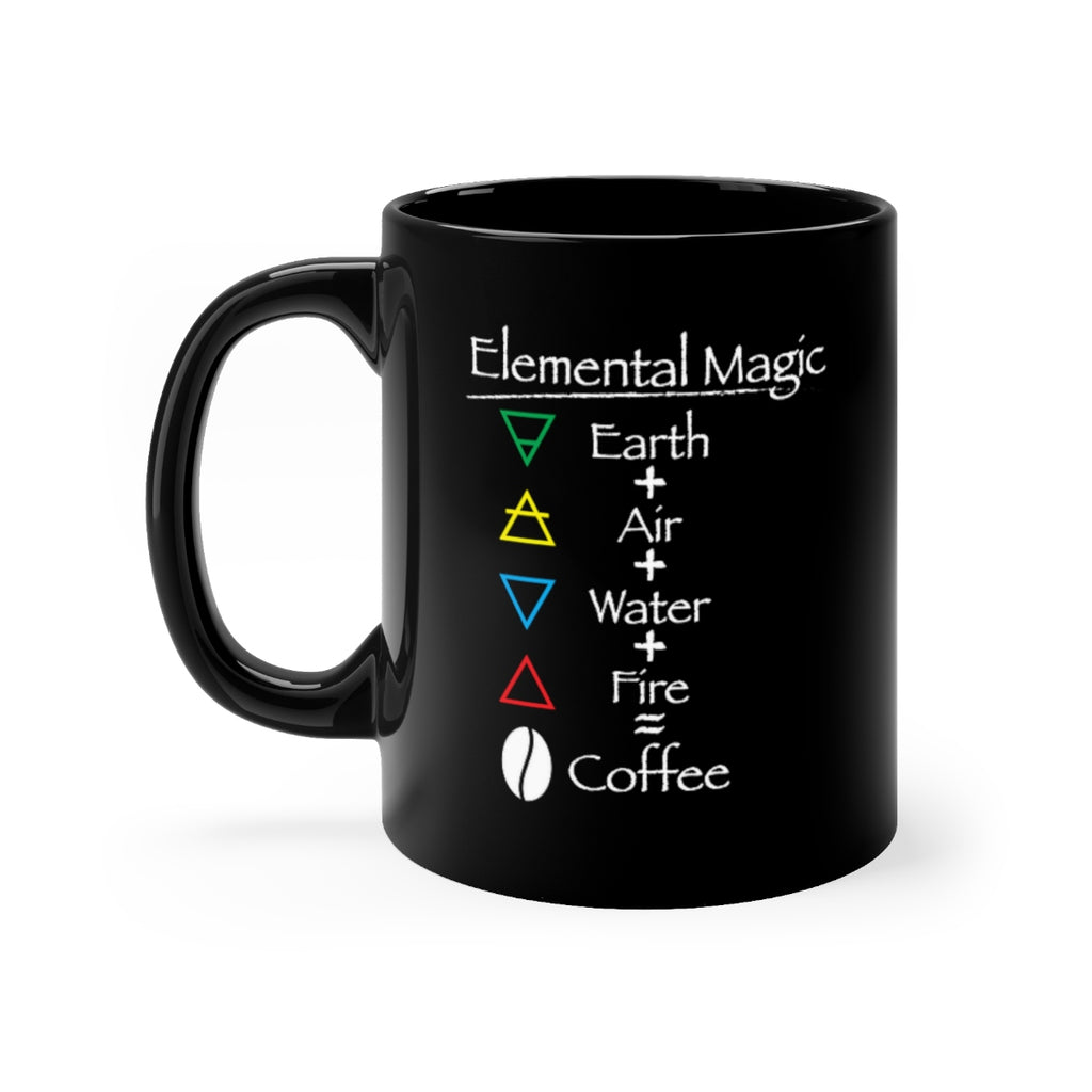 Coffee Magic Black mug 11oz - Elemental Magic coffee mug