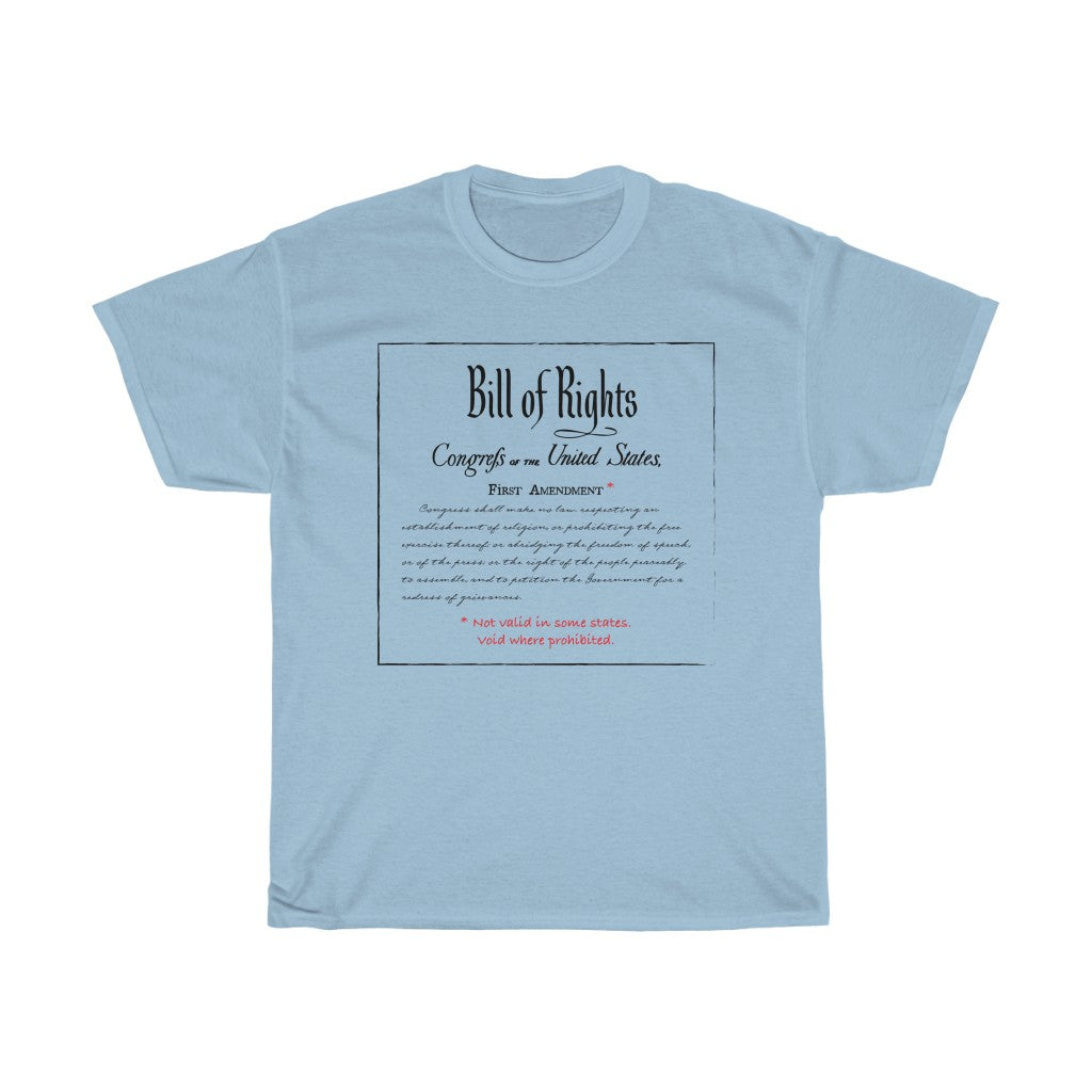 First Amendment - Unisex Heavy Cotton Tee - Constitution First Amendment