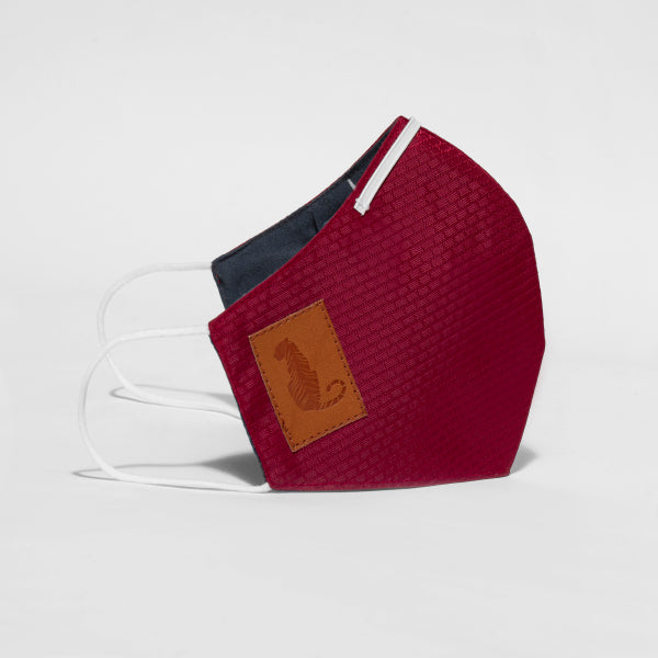 Reusable Triple Layered Mask Maroon