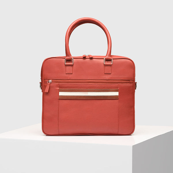 Red Leather Laptop Bag