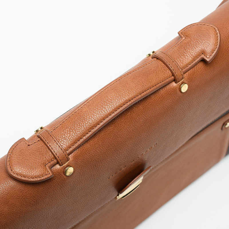 Brown Leather Laptop Bag