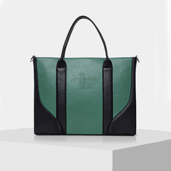 Green and Black Laptop Bag