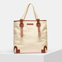 Leather shopper bags - Brown & Beige