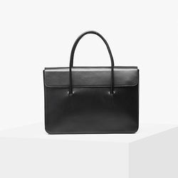 Tote Softy Leather Bag - Black