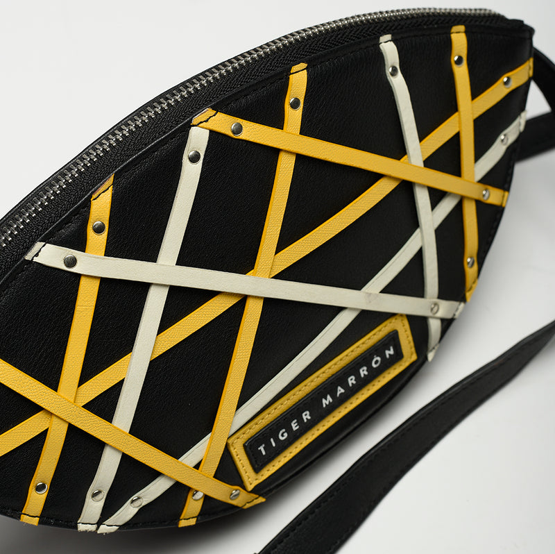 Belt Bags - Black Yellow & White