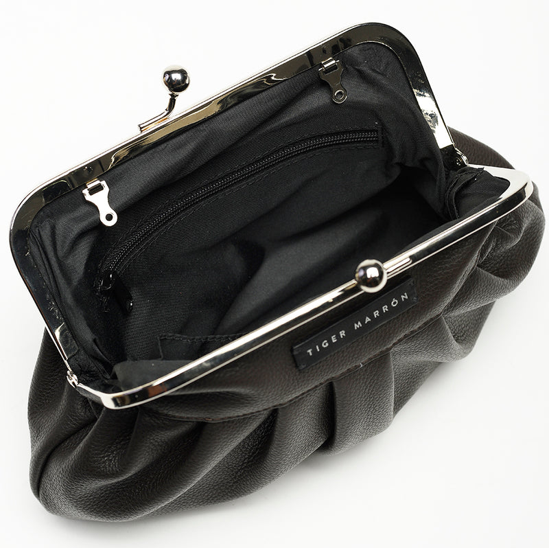 Clutch Bags - Black & Dark Brown
