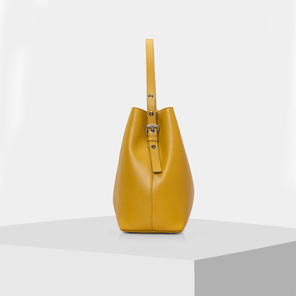 Tote Bag - MUSTARD YELLOW & BLUE