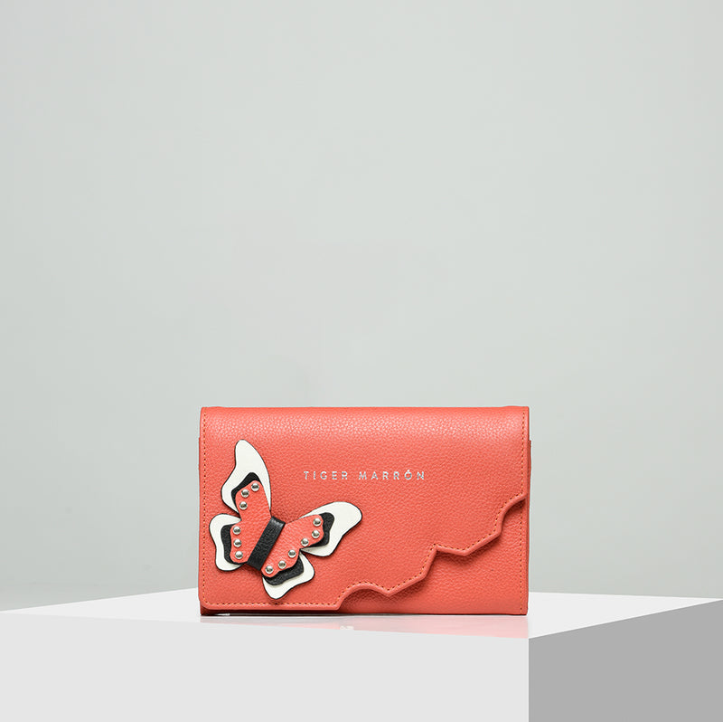 Women Butterfly Effect wallet - Red