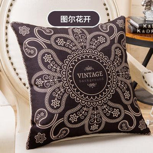 Decorative Luxury Slub Linen Pillow Case Cover Pillowcase for House New