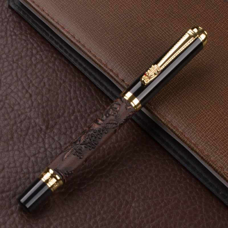 Luxury Golden carving gules Grape grain roller ball pen  New