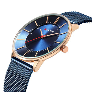 Curren Watches Luxury Watch Men Casual Blue Quartz Clock Male Stainless Steel Ultra Thin Watch Men Luxury Man Watches 2018 New