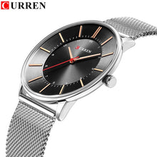 Load image into Gallery viewer, Curren Watches Luxury Watch Men Casual Blue Quartz Clock Male Stainless Steel Ultra Thin Watch Men Luxury Man Watches 2018 New