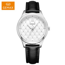 Load image into Gallery viewer, GEMAX Luxury Women Watches Genuine Leather Quartz Watch Women's Fashion Brand Diamond Watch with Luxury Gift Package MX2118