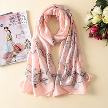 Load image into Gallery viewer, 2018 luxury brand Women Silk scarf Beach Shawl and Echarpe Luxurious Wrap Designer scarves Plus Size female beach stole bandana