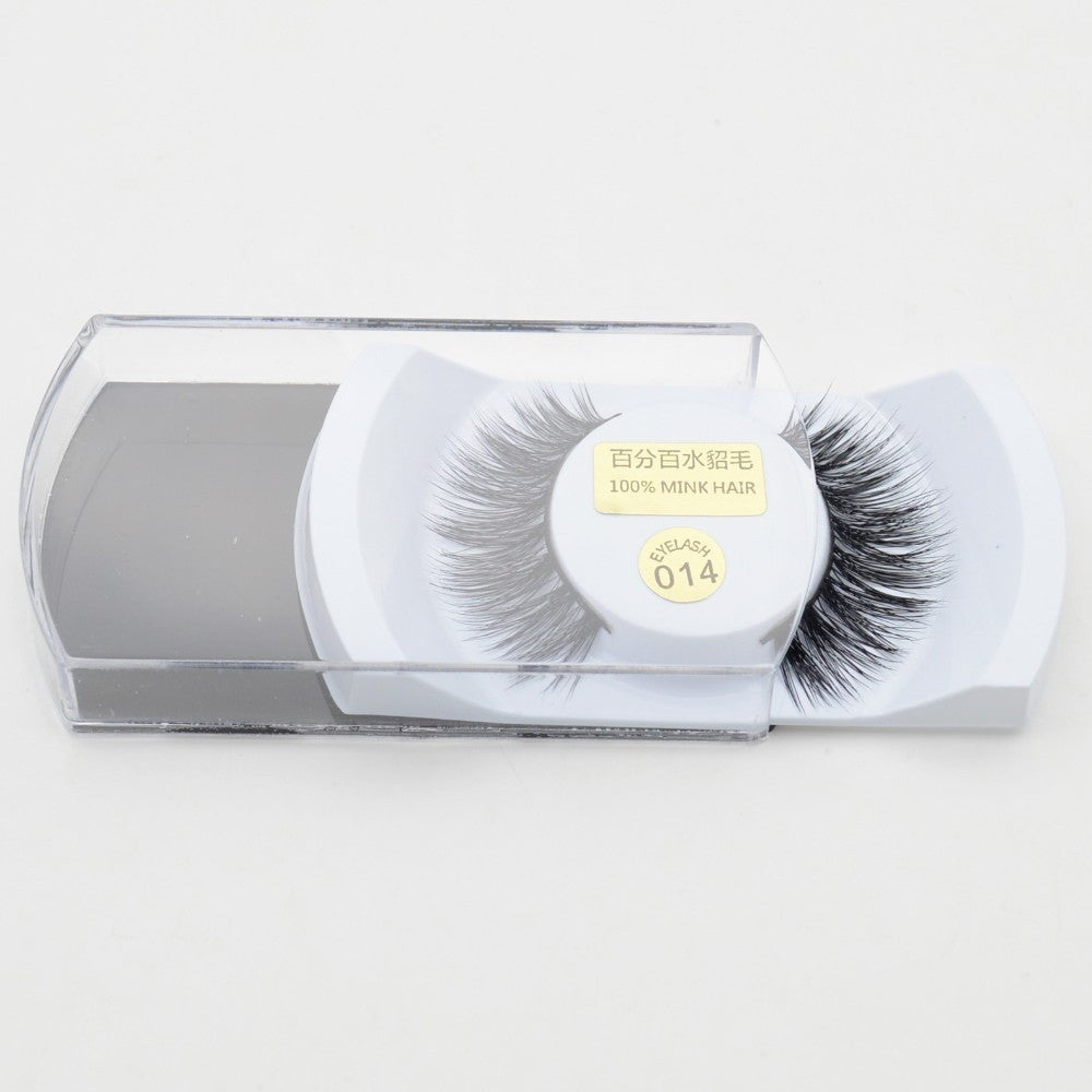 1Pairs Luxurious Mink 3D False Eyelashes Natural Wispy Eye Lashes