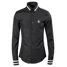 Load image into Gallery viewer, Spring Autumn Mens Long Sleeve Luxury Design Print Dress Shirt