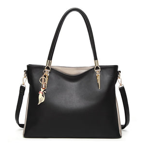 2018 Autumn Fashion Women Bag Shoulder Soft PU Leather Top-Handle Bag Luxury Hobo Bags Female Luxury Shoulder Bag Brand Designer