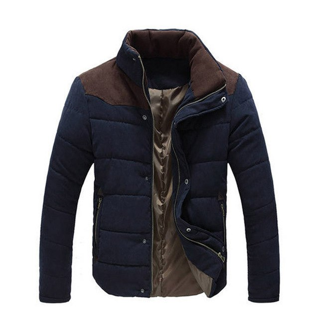 Luxury New Drop Shipping Luxury Brand 2018 Winter Jacket Men Warm Causal Parkas Cotton Coat Male Outwear Coat puls Size M-4XL