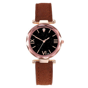 2019 New Watches Brand Luxury Casual Fashion Women Leather Casual Watch Luxury Analog Quartz Starry Sky Wristwatch dropshipping