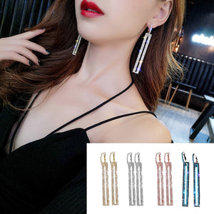 Fashion Long Geometric Earrings Luxury Rectangle Earrings For Women Jewelry