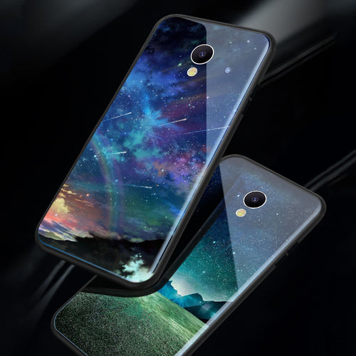 Glossy Space Planet Stars Case For Meizu M6s mblu S6 Luxury Luxury Glass Hard Back Cover For Meizu M6s 5.7
