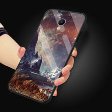 "Load image into Gallery viewer, Glossy Space Planet Stars Case For Meizu M6s mblu S6 Luxury Luxury Glass Hard Back Cover For Meizu M6s 5.7"" Cases Coque"