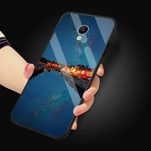 "Glossy Space Planet Stars Case For Meizu M6s mblu S6 Luxury Luxury Glass Hard Back Cover For Meizu M6s 5.7"" Cases Coque"