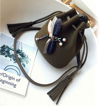 Load image into Gallery viewer, 2018 fashion Women Messenger Bags Female Luxury Bucket Bag Cute Three-dimensional Dragonfly Shoulder Bag WML99