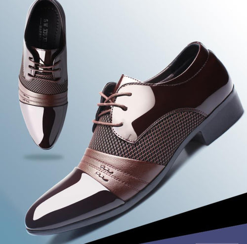 2019 new fashion business men's shoes British style pointy men's shoes luxury dress shoes men's office work shoes Size 38-48