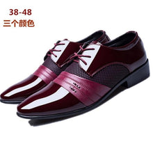 Load image into Gallery viewer, 2019 new fashion business men's shoes British style pointy men's shoes luxury dress shoes men's office work shoes Size 38-48