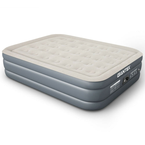 Inflatable Airbed Built-in Pump Luxury Raised Air Mattress-Twin size