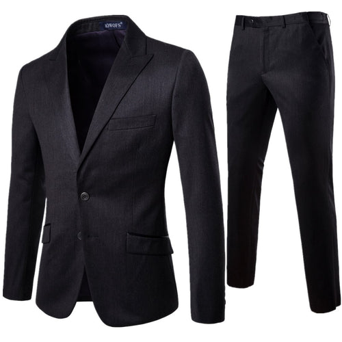 XF008 New Men Suit 2 Pieces Professional Business Suit Best Man and Groom Wedding Dress Mens Suits Blazers Luxury Male Clothing