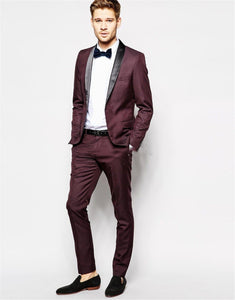 Luxury Men Wedding Suit Costume Business Formal Party Blue Classic Burgundy Male Blazers Slim Fit Suits For Men