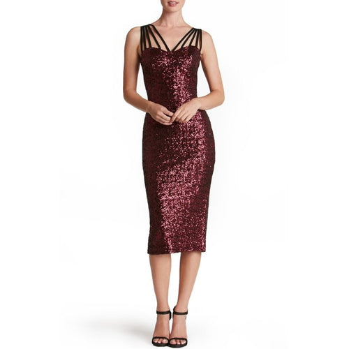 YSMARKET  3 Color Women Sequin Dress  Midi Pencil Tight Sexy Backless Luxury Party Club Wear Sleeveless Split Dresses For Summer