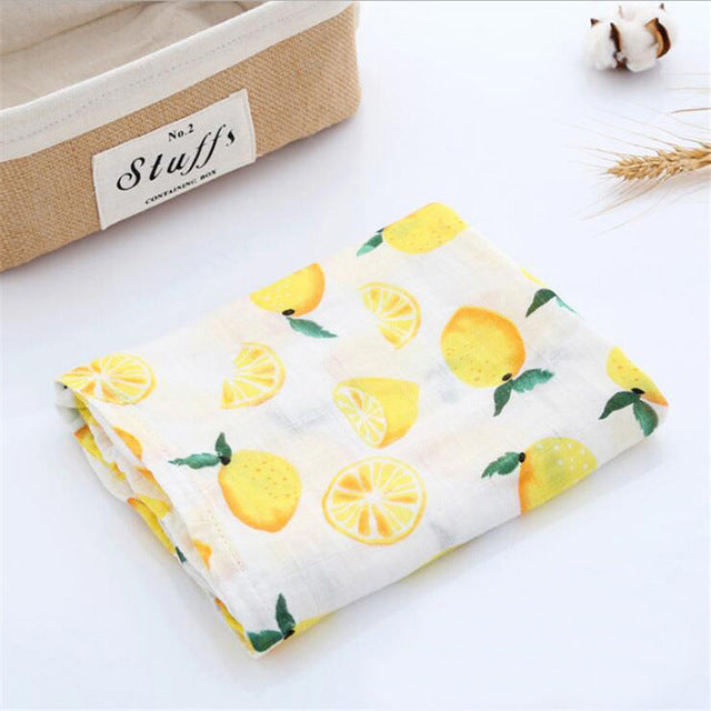 Lemons Muslin Organic Cotton Swaddle