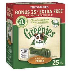 Greenies Dental Chews Treat-Pak Petite Bonus Tub 425g | Choice Vet Pharmacy