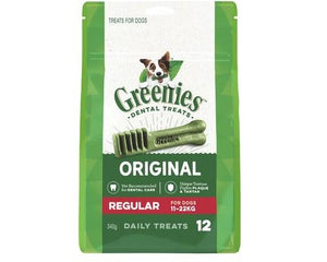 Greenies Dental Chews Original Treat Pack Regular 340g (12) | Choice Vet Pharmacy